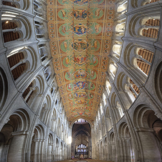 Beautiful ceiling in Ely cathedral